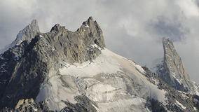 Aiguille du Tacul and Dent du Geant Royalty Free Stock Photos