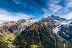 Aiguille Verte, Chardonnet And Glaciers-France Stock Photo