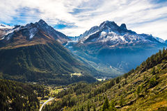 Aiguille Verte, Les Drus, Aiguille du Tour-France Royalty Free Stock Photo