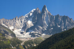 Aiguille Verte and Les Drus Royalty Free Stock Image