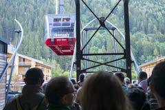 aiguille wagon kolei linowej du Midi Obrazy Stock