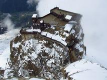 Aiguilledu Midi terrassen Royalty-vrije Stock Fotografie