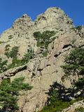 The Aiguilles de Bavella mountains royalty free stock image