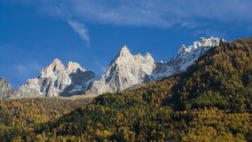 Aiguilles de Chamonix Images libres de droits