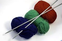 Aiguilles de tricotage Photographie stock