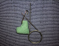 Aiguilles de tricotage Photo stock