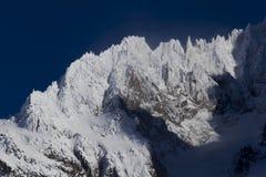 Aiguilles du Alpes de Mer de Glace Images stock