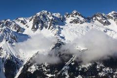 Aiguilles du Alpes de Mer de Glace, Chamonix, la Savoie, Rhésus Images libres de droits