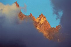 aiguilles du Chamonix, Obrazy Royalty Free