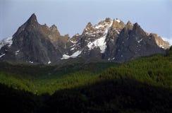 Aiguilles du Chamonix Image stock