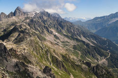 Aiguilles Rouges from Brevent royalty free stock photography