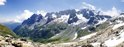 Aiguilles rouges massif. High mountain massif near Chamonix Stock Photos