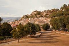 Aiguines, Ущелье du Verdon, Alpes-de-Haute-Провансаль, Провансаль - d'Azur Alpes-Коута, Франция стоковые изображения rf