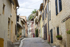 Aiguines, Var Departement in Provence Stock Photography