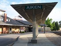 Aiken Train Station Royalty Free Stock Photography