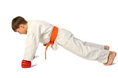 Aikido boy Stock Image