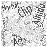 Aikido clip video word cloud concept vector background Stock Photo