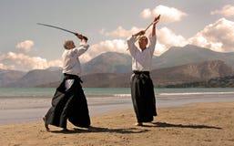 Aikido dans le japon Photos libres de droits