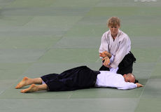 Aikido demonstration Royalty Free Stock Image