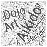 Aikido dojo word cloud concept vector background Stock Images