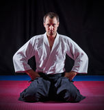 Aikido fighter Stock Image