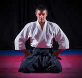 Aikido fighter Royalty Free Stock Photo