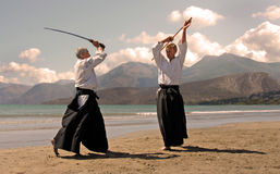 Aikido in japon Royalty Free Stock Photos