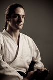 Aikido man with katana(sword) Stock Photography