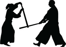 Aikido martial art vector Stock Image