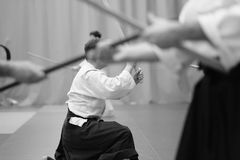 Aikido. The moment of a training match in the martial art of aikido Stock Photography