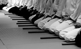 Aikido seminary stock photos
