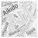 Aikido spirit word cloud concept vector background Royalty Free Stock Photos