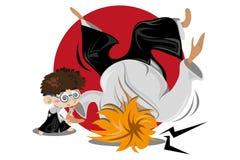 aikido sztuki samiec wojenna ilustracji