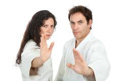 Aikido teachers Stock Images