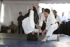 Aikido Throw Stock Images