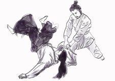 Aikido warriors Stock Image