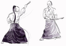 Aikido warriors Royalty Free Stock Photo