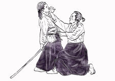 Aikido warriors Stock Photography
