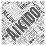 Aikido yoshinkan word cloud concept  background Royalty Free Stock Photography
