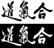aikidocalligraphy Arkivbilder