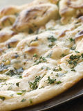 ail de coriandre de pain naan Image stock