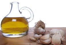 Ail et huile d'olive Photo stock