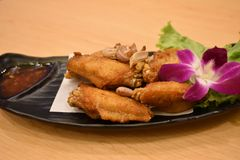 Ail Fried Chicken Wings Very savoureux photographie stock