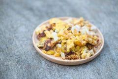 Ail mariné par mélange d'omelette Photo libre de droits