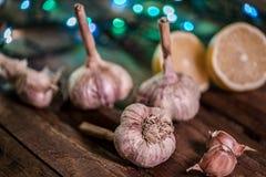 ail organique délicieux faisant cuire des préparations photographie stock libre de droits