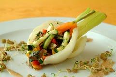 Ail rempli de légumes et de lentille de fenouil Images libres de droits