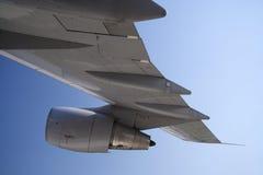 Aile d'avion à réaction Images stock