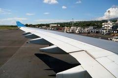 Aile d'avion à réaction Image libre de droits