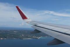 Aile d'avions d'Air Asia Images stock