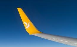 Aile et Wingtrip d'avion Photos libres de droits